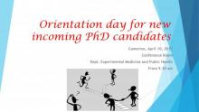 Orientation Day for New Incoming Doctoral Candidates