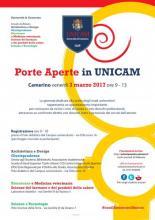 Porte aperte in Unicam 2017